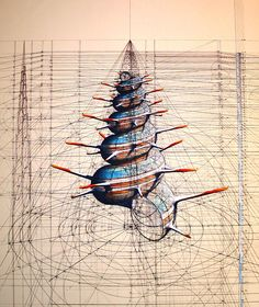 Obras de Rafael Araujo (b1957) is a Venezuelan Artist who bases many pictures on the Fibinacci series.