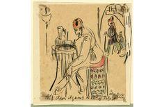 De cuerpos y escritura: travestismos y laceraciones en las obras de Else Lasker-Schüler y de Unica Zürn, por José Aníbal Campos / FronteraD (Dibujo de Else Lasker-Schüler)
