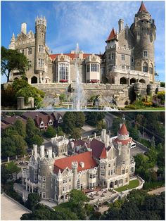 Casa Loma, Toronto, Ontario. Visit Canada's Majestic Castle, Casa Loma and step back in time to a period of European elegance and splendour. The former home of Canadian financier Sir Henry Pellatt, Canada's foremost castle is complete with decorated suites, secret passages, an 800-foot tunnel, towers, stables, and beautiful 5-acre estate gardens (open May through October).