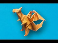 How to make an origami dragon (Jo Nakashima) Việt Nam version Dragon Origami, Origami Ship, Origami Youtube, Origami Paper Folding, Origami Videos, Origami Animals, Chinese Zodiac, Prehistoric, Diy And Crafts