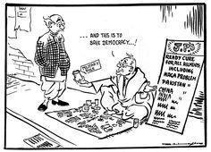 Cartoon by R.K. Laxman, India, May 1967