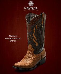 #Montana #Botas #Montana #AvestruzSmooth #Modelo MN203A2 #Color Brandy #MontanaisBack