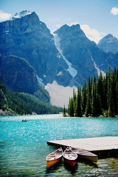 Lake Louise, Canada   I've been here a couple of times, but not for many years.  I'd love to go back and canoe on this gorgeous milky turquoise glacier lake again sometime.
