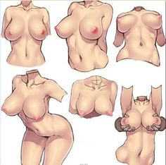 How to draw manga - Exaggerated female breast () ★ || CHARACTER DESIGN REFERENCES | マンガの描き方 • Find more artworks at https://www.facebook.com/CharacterDesignReferences  http://www.pinterest.com/characterdesigh and learn how to draw: #concept #art #animation #anime #comics || ★