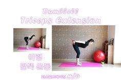 덤벨 트라이셉스 익스텐션 Dumbbell Triceps Extension^^ 삼두근 팔뚝 운동이에요 덤벨 킥백 Dumbbell  Kickback^^