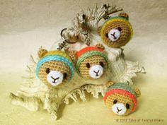 Amigurumi, Teddy Bear, Keychain, Free Crochet Pattern, #haken, gratis patroo (Engels), sleutelhanger, teddy beer hoofd, #haakpatroon