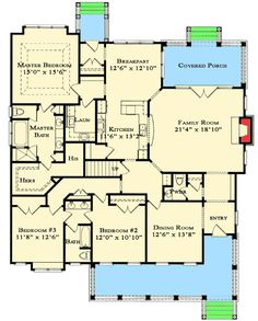 Plan 70006CW: Bungalow With Option For Five Bedrooms