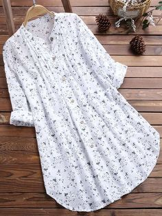 Camisa Formal, Loose Shirts, Long Blouse, Casual Tops, Shirt Blouses, Cotton Blouses, Cotton Linen, Blouses For Women, Long Sleeve Tops