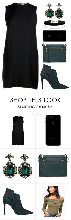 """""""Crying in despair always looks better if you're wearing a little black dress"""" by agonyfeelsgood ❤ liked on Polyvore featuring Acne Studios, Victoria Beckham, GUESS and Miss Selfridge"""