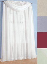 """Sheer Curtain Panels - 60""""W x 216""""L Sheer Scarf, Color White by Carol. $6.99. This item is the 60""""W x 216""""L Sheer Scarf Only, the curtain panels are sold separately"""