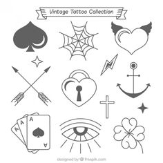 Vintage collection of beautiful tattoos . Doodle Tattoo, Doodle Drawings, Doodle Art, Tatuaje Stick N Poke, Stick N Poke Tattoo, Mini Tattoos, Small Tattoos, Tattoo Sketches, Tattoo Drawings