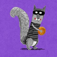 Sneaky Squirrel Illustration....