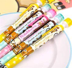 Rilakkuma Chocolate and Coffee Stamp Mechanical Pencils