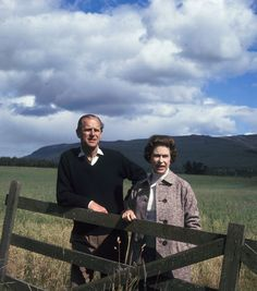 Queen Elizabeth II (Elizabeth Alexandra Mary) (1926-living2013) UK & Prince Philip Duke of Edinburgh (Philip Mountbatten) (1921-living2013) Greece  at Balmoral, Scotland, 1972 photographer unknown.