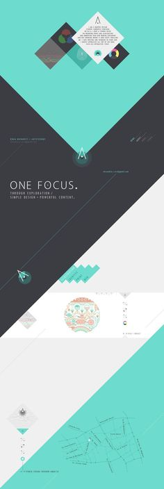 portfolio layout by Alexandra Rusu, via Behance