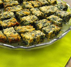 Spinach Cheese Squares: a warm cheesy appetizer