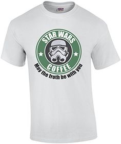 Star Wars Coffee  May the froth be with you Star Wars TShirt * Details can be found by clicking on the image.