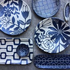 Thank you for all you great supporters out there! I hope to bring a bit of joy and love to all. You have moved me to places I never could have imagined. Ceramic Pots, Ceramic Decor, Ceramic Design, Terracotta Pots, Ceramic Pottery, Pottery Painting Designs, China Clay, Clay Texture, Square Plates