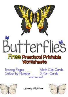 Looking for free preschool printable worksheets for your kids to welcome Spring or simply to study butterflies? Try these worksheets that I made for my daughter!