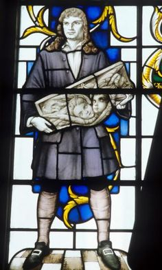 The great woodcarver Grinling Gibbons, pictured in Stained Glass
