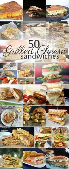 50 grilled cheese recipes for a Grilled Cheese Bar Grilled Cheese Bar, Grilled Cheese Recipes, Grilled Sandwich, Soup And Sandwich, Sandwich Recipes, Lunch Recipes, Sandwich Ideas, Grilled Cheeses, Delicious Recipes