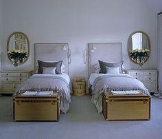beds, trunks, sconces