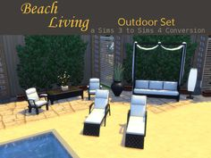 "leanderbelgraves: "" Beach Living Outdoor Set a Sims 3 to Sims 4 Conversion…"