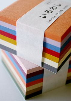 coloured post-its
