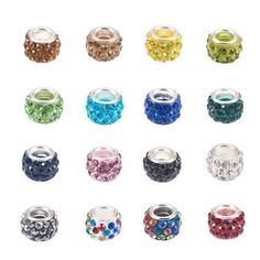 15PCs Mixed Christmas Series European Charms Beads Fit European Bracele 15x9mm