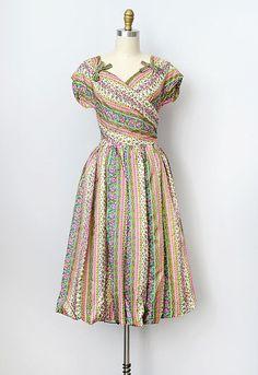#fashion #floral #dress #1950s #partydress #vintage #frock #retro #sundress #floralprint #romantic #feminine