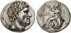 AR Tetradrachm. Greek Coins, Italy, Kingdom of Prgamum, Attalus I., king 241-197 BC. 17,01g. SNG Von Aulock 1538. Scarce variety. EF. Price realized 2011: 3.750 USD.