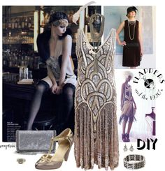 """""""DIY Halloween: Flapper Girl"""" by exxpress ❤ liked on Polyvore"""