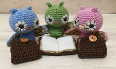 Купить Совята вязаные - вязаные игрушки, handmade, сова, игрушки вязаные, совушка, вязание на заказ