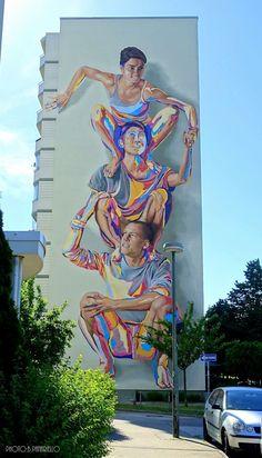3d Street Art, Murals Street Art, Amazing Street Art, Street Art Graffiti, Mural Art, Street Artists, Amazing Art, Graffiti Artists, Wall Murals