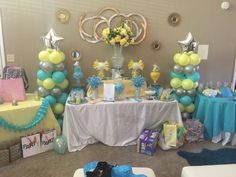 Baby shower sweets table.