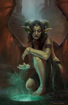 FFemale Demon character design  Demon Summoner by Paolo  Puggioni