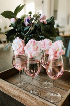 Sparkling Rose with Cotton Candy | KBStyled #candiedwedding