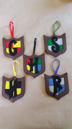 Harry Potter Hand-Appliqued Felt Ornaments Set of 4 Houses *BONUS* by CreativelyEllie on Etsy https://www.etsy.com/listing/225774640/harry-potter-hand-appliqued-felt