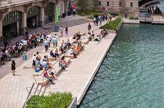 Sasaki and Ross Barney Architects complete Chicago Riverwalk #landscape #architecture #design