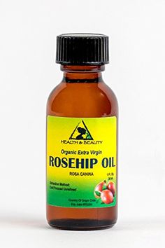 Rosehip Seed Oil Organic Unrefined Extra Virgin Cold Pressed Raw Premium Pure 1 oz in Glass Bottle >>> ** AMAZON BEST BUY ** #OrganicSoap