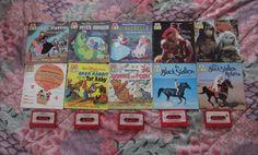 Vintage Lot 10 Books & Cassette Disney Cinderella Small World Dark Crystal E.T.