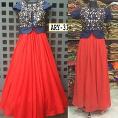 Blue and Red Koti Styles Lehenga Suit  Product Info : Top- Bhagalpuri silk with heavy embrodery work Lehnga - soft georget Semi Stitched Size UpTo 42 Length UpTo 42  Price : 1990 INR Only ! #Booknow  World Wide Shipping Available !  PayPal / WU Accepted  C O D Available In India ! Shipping Charges Extra  Stitching Service Available  To order / enquiry  Contact Us : 91 9054562754 ( WhatsApp Only )  #stylish #celebrity #weddingwear #lehenga #indiandress #look #indiandesigner #allthingsbridal…
