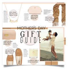 """""""Mother's Day Gift Guide"""" by mila-me ❤ liked on Polyvore featuring Kate Spade, AERIN, UGG Australia, Calypso St. Barth, Tory Burch and rag & bone"""
