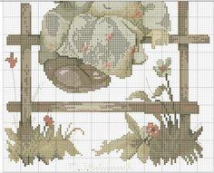"""""""Coquettes"""" Hummel cross stitch - pattern 3B"""