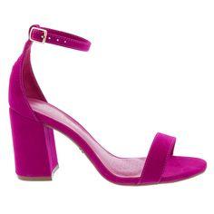 d7ae06afc5 Sandália Penélope Salto Grosso Nobuck Pink - Studio Z Calçados
