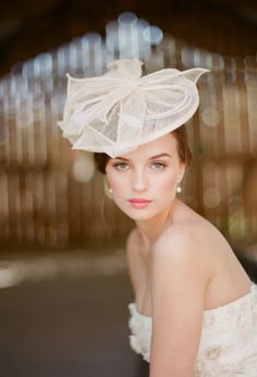 Ruche bridal fascinator
