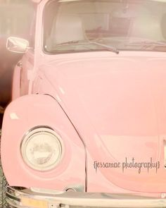 Pink Volkswagen Photography, Pink Vintage Car Art, Vintage VW Bug Print, Vintage Car Photography Pri Source by etsy Rosa Vintage, Art Vintage, Vintage Pink, Vintage Cars, Design Vintage, Wedding Vintage, Pink Volkswagen Beetle, Pink Beetle, Peach Aesthetic