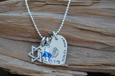 Star of David Necklace   Personalized with by NamiCharms on Etsy, $52.00
