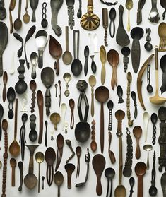 What kind of strange, different or odd things do you collect?  This collection of spoons is interesting.  (via curiositycontained)