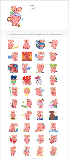 LINE stickers (Lo Lo) on Behance
